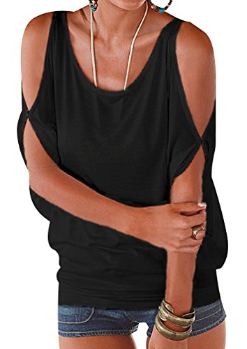 Camisetas Manga Corta Cuello Redondo Anchas Mujer Blusas Elegantes Camiseta Largas Chica Camisas Dama Fiesta Señora Blusa Camisa Verano Remeras Blusones Top Casual Personalizadas Negro