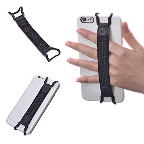 TFY Security Hand strap Holder for iPhone X / 8 / 8 Plus - iPhone 6 / 6S (Plus) - iPhone 7 / 7 Plus - iPhone SE -Samsung Galaxy S7 / S7 Edge - Galaxy Note 4 / 5 - HUAWEI Mate 9