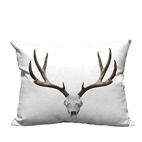 YouXianHome Zippered Pillow Covers A Deer Skull Skeleton Head Bone Halloween Weathered Hunter Decorative Couch(Double-Sided Printing) 12x16 inch ()
