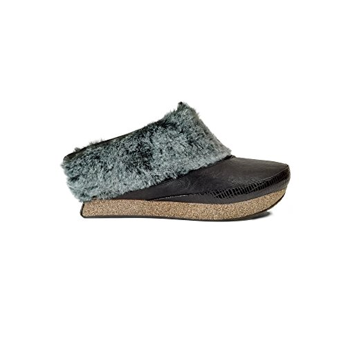 Mid Gray Reversible Fur Women's Jada Modzori Clog Black Wedge gExYqxzZ