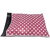 Shop4Mailers 6 x 9 Pink Polka Dot Poly Bag Mailer Envelopes 2 Mil (100 Pack)