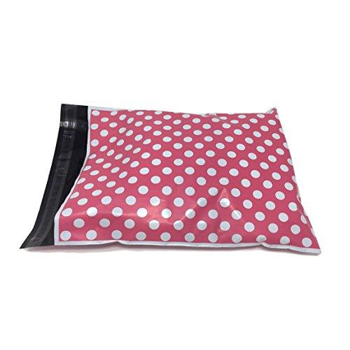 Shop4Mailers 6 x 9 핑크 폴카 도트 폴라 백 메일러 봉투 2 밀리/..