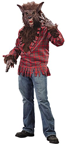 Adult-Costume Werewolf Costume Brown Halloween Costume - Most Adults (Sexy Werewolf Costume)
