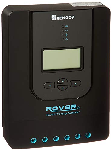 Renogy Rover 40 Amp MPPT Solar Charge Controller Battery Regulator with LCD Display