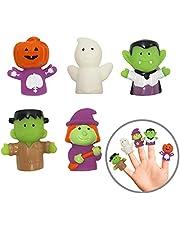Idea Factory Halloween Bath Finger Puppets, 5 Pack