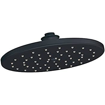 moen 10 inch rain shower head. Moen S112WR Waterhill One Function 10 Inch Diameter Rainshower Showerhead  Black Brushed Nickel