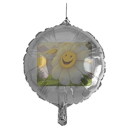 Gerbera Daisy Balloons (Royal Lion Mylar Balloon Smiley Face Daisy Flower)