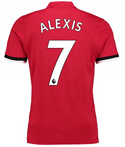 New Manchester United Home Alexis #7 Season 17/18 Soccer Jersey Men's Color Red Size M