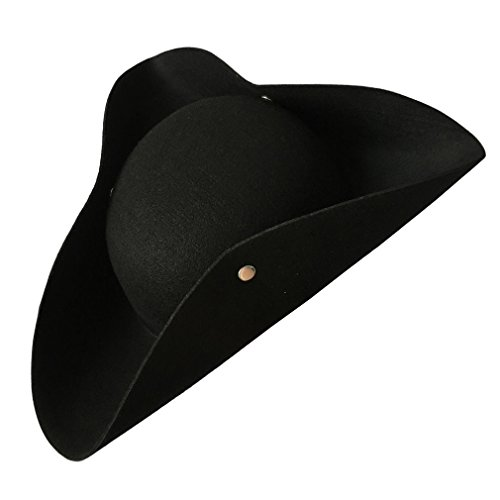 Simple Black Tricorn Hat (x) -