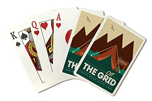 Table Rock State Park, South Carolina - Off The Grid (Tent) (Playing Card Deck - 52 Card Poker Size with Jokers)