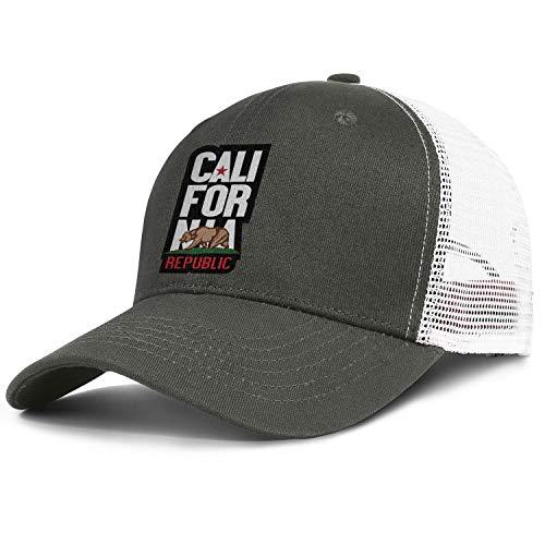 TUICAQJ Run Cap for Men/Women California Republic Bear Symbol California Adjustable Fashion Outdoor Trucker Army_Green]()