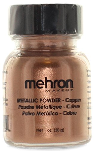 Mehron Metallic Powder Copper 1.0 oz (Halloween Makeup Pop Art)