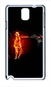 Flame In The Woman Polycarbonate Hard Case Cover for Samsung Galaxy Note III/ Note 3 / N9000 White