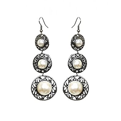 Buy pearl chandelier earrings online at low prices in india amazon pearl chandelier earrings mozeypictures Image collections
