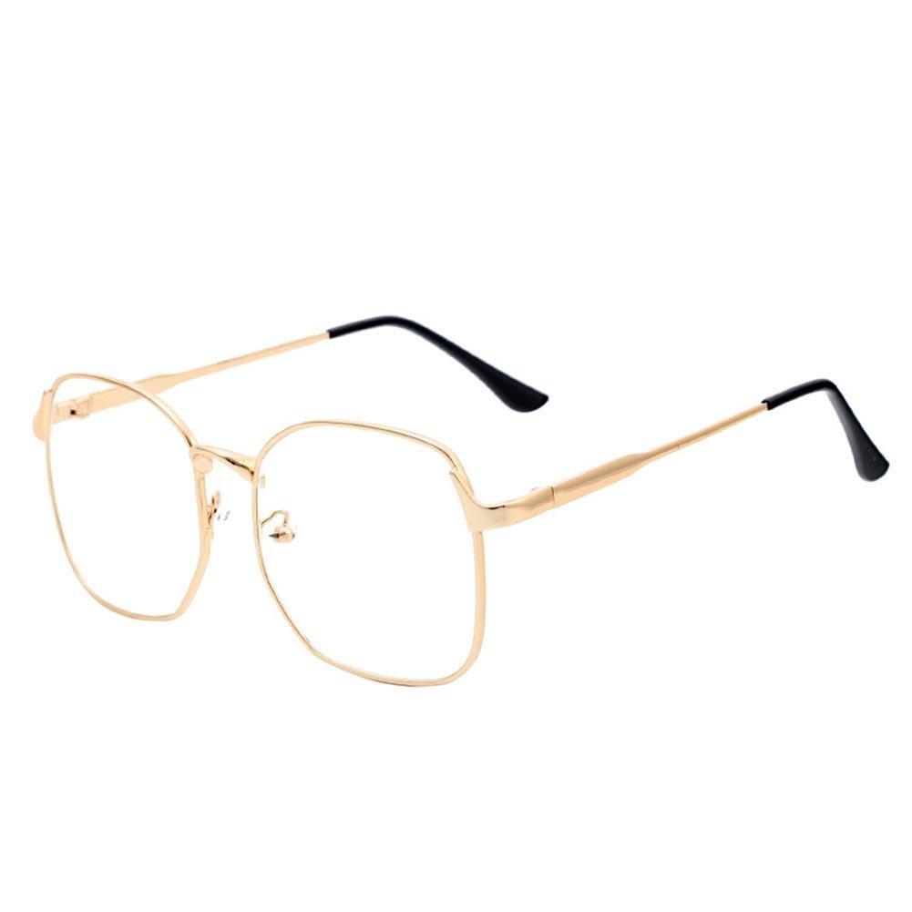 Domybest Vintage Square Metallrahmen plain Gläser Männer Damen ...