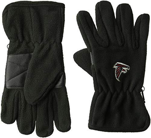 (OTS NFL Atlanta Falcons Male Fleece Gloves, Black, Men's)