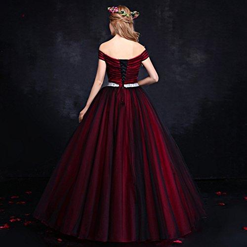 Vimans - Robe - Trapèze - Femme rouge Red