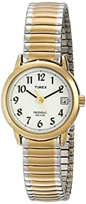 Timex Women's T2H491 Easy Reader Two-Tone Stainless Steel Expansion Band Watch by Timex