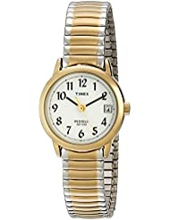 Timex Womens T2H491 Easy Reader Two-Tone Stainless Steel Expansion Band Watch