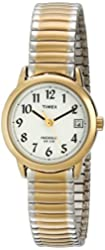 Timex Women's T2H491 Easy Reader Two-Tone Watch with Expansion Band