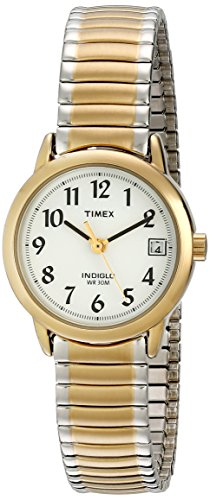 Timex Women's T2H491 Easy Reader Two-Tone Stainless Steel Expansion Band Watch ()
