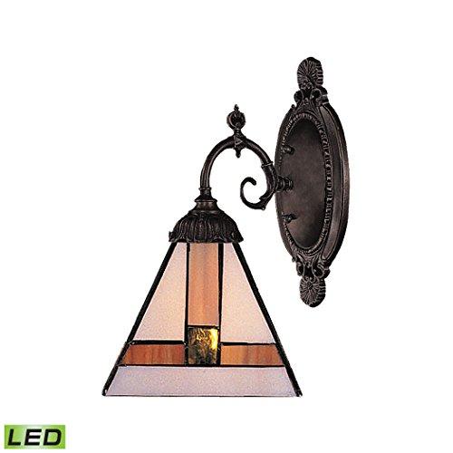 ELK 071-TB-01-LED, Mix-N-Match Glass Wall Sconce Lighting, 1 Light LED, Tiffany Bronze by ELK