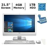 Dell Inspiron 1920x1080 display All-in-one desktop (2018 Newest), Intel Pentium 4405U processor 2.1GHz, 4GB RAM, 1TB HDD, 802.11ac, Bluetooth, HDMI, 4-in-1 media card reader, Windows 10 Home 64-bit