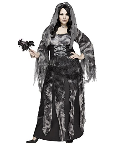 Fun World Women's Plus Size Cemetery Bride Costume, Multi, XX-Large]()