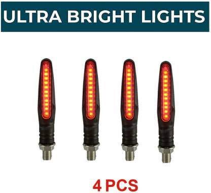 Petrox Front, Side, Rear LED Indicator Light for Universal for Bike Universal for Bike (Red)