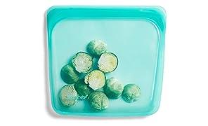 Stasher Reusable Silicone Food Bag, Sandwich Bag, Storage Bag, Aqua