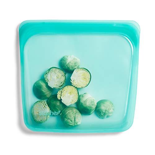 - Stasher Reusable Silicone Food Bag, Sandwich Bag, Storage Bag, Aqua