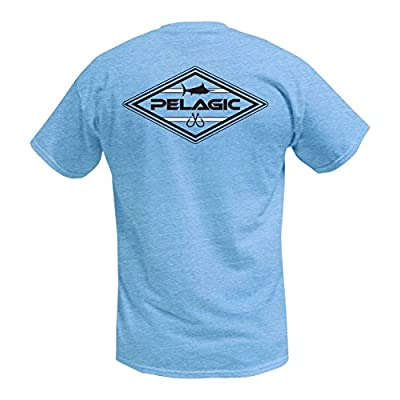 Cheap Pelagic Men's Boardwalk Tee Shirt | Marlin With Double Hooks Graphic | 52% Cotton, 48% Polyester supplier