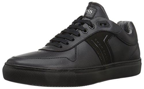 BOSS Green by Hugo Boss Men's Enlight Tenn Leather Sneaker, Black, 11 M US
