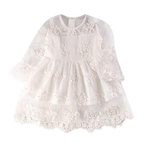 Para Niña Verano 2 Primavera Paolian Vestido 2019 Novia Encaje De Años Manga Princesa 7 Larga Blanco Fiesta Boda Bordadas vestido E5xYqgwqa