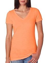 Next Level Texture Slub V-Neck T-Shirt (Pack of 12)