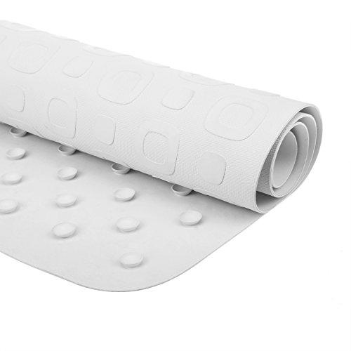 Joylink Antibacterial Bath Mat Shower Mat, 16 x 28 inches, White