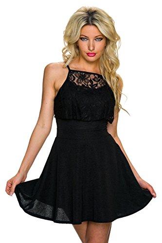 Fashion - Vestido - Noche - Básico - Sin mangas - para mujer negro