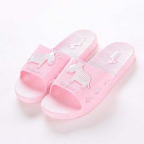 Pantoufles Confort Slip Couples Plancher UNE 42 43 Bains Salle D'Été Traînant Pantoufles Épais Intérieur de de Accueil Sandales nPg6Aq6