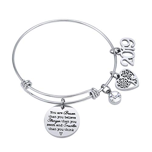 ivyAnan Jewellery Inspirational Gift for Women Girls 2019 Graduation Jewelry Bracelet Engraved You are Braver That You Believe