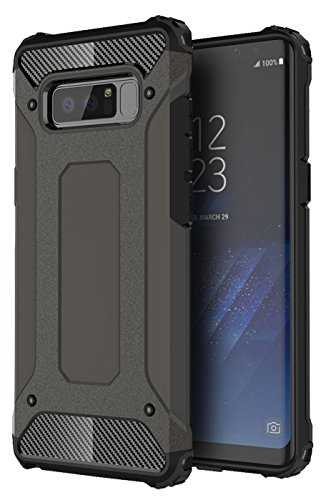GALAXY NOTE 8 CASE, NOTE 8 CASE, GORGCASE SLIM SLEEK ANTI DROP SHOCKPROOF DUSTPROOF SHOCK FULL PROTECTION ARMORr Protective Case Cover for SAMSUNG GALAXY NOTE 8 - Black