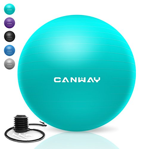 Canway Exercise Ball - Extra Thick & Slip Resistant