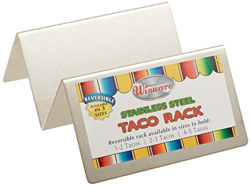 Winco TCHS-12 1-2 Compartments Stainless Steel Taco Holder