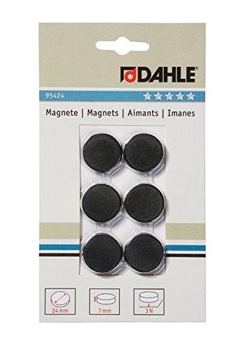 Dahle 24mm Diameter Black Magnetic bürotechnik Dahle 09.95424, Height: 7mm