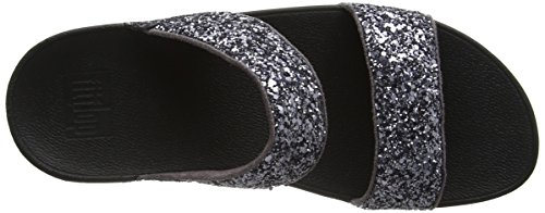Sandals Glitterball Fitflop Grigio Open Toe in peltro Slide R7cf4I