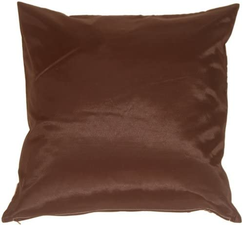 Pillow D COR Brown with White Spring Flower and Ferns Pillow 20×20