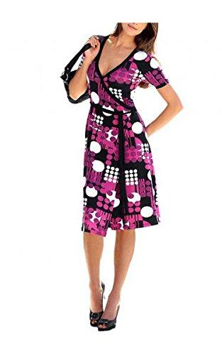Vivance Collection Wickelkleid, cyclam-schwarz-weiß Kleider Sommerkleid