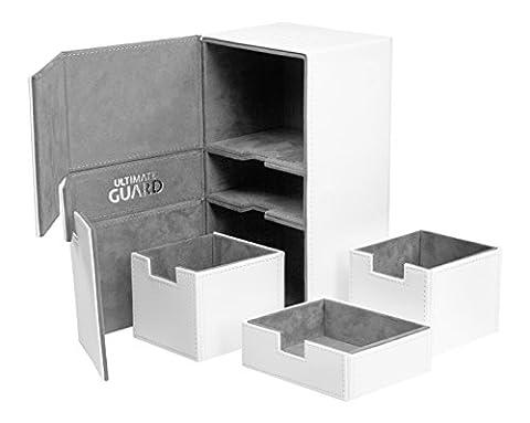 200 Card Twin Flip N Tray Xenoskin Deck Case, White - Double Deck Card Box