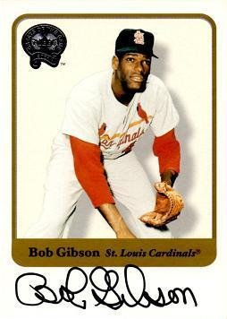 2001 Fleer Greats of the Game Bob Gibson Certified Autograph Baseball Card