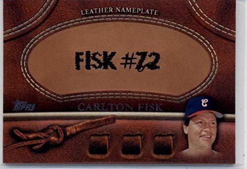 2011 Topps Update Manufactured Glove Leather Nameplates #MGL-CF Carlton Fisk MLB Baseball Card NM-MT