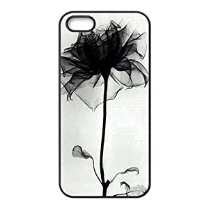 beautiful abstract black flower white background personalized high quality cell phone case for Iphone ipod touch4